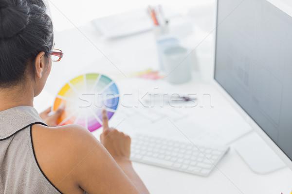 Disenador de trabajo escritorio color rueda Foto stock © wavebreak_media