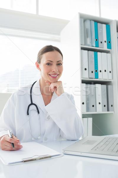 Doktor oturma büro klinik portre güzel Stok fotoğraf © wavebreak_media