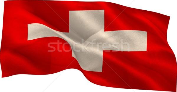 Cyfrowo wygenerowany banderą biały Zdjęcia stock © wavebreak_media