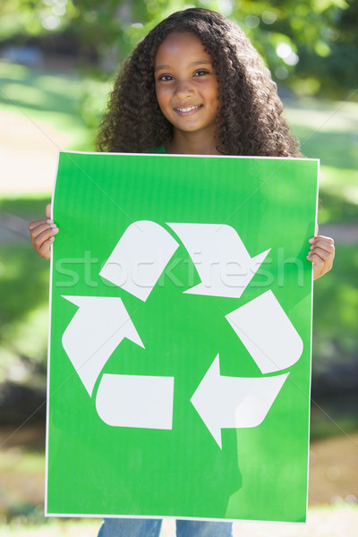 Jonge milieu activist glimlachend camera Stockfoto © wavebreak_media