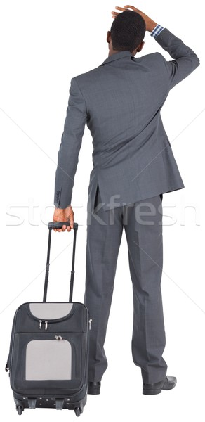 Young businessman standing with suitcase Stock photo © wavebreak_media