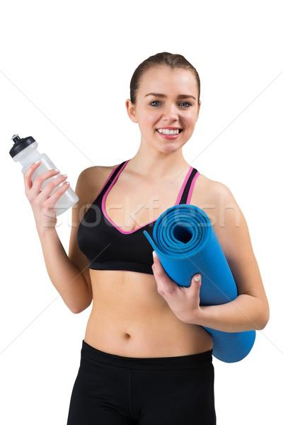 Caber morena esportes garrafa branco Foto stock © wavebreak_media