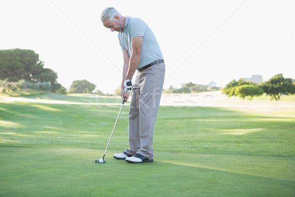 Golfista palla verde campo da golf sport Foto d'archivio © wavebreak_media