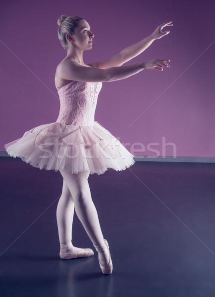 Gracioso bailarina em pé rosa balé estúdio Foto stock © wavebreak_media