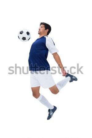 Foto d'archivio: Bianco · giocare · sport · calcio · palla