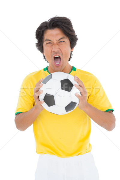 Portrait of a football player shouting Stock photo © wavebreak_media