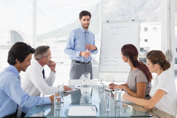 Business man giving a presentation Stock photo © wavebreak_media