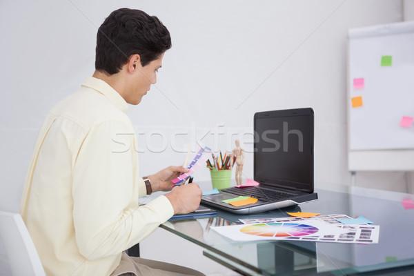 Tasarımcı renk örnek ofis bilgisayar dizayn Stok fotoğraf © wavebreak_media