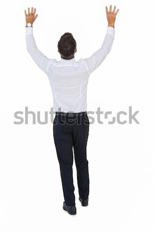 Rear view of a businessman with arms up Stock photo © wavebreak_media