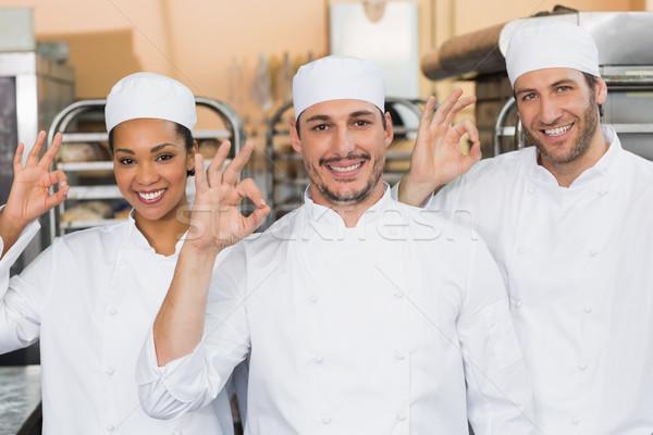команда улыбаясь камеры кухне хлебобулочные бизнеса Сток-фото © wavebreak_media