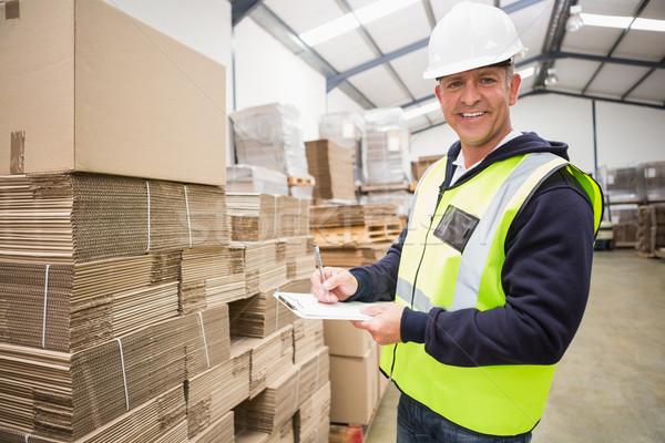 Halle Arbeitnehmer Liste Zwischenablage groß Business Stock foto © wavebreak_media