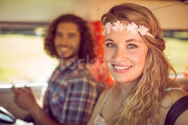 Hipster couple on road trip Stock photo © wavebreak_media
