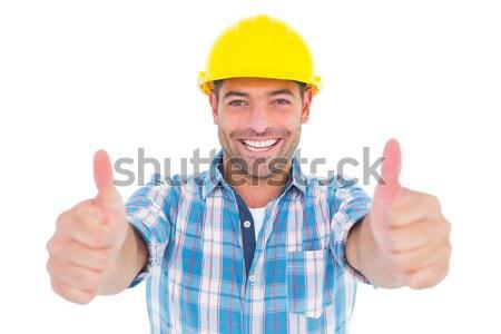 Sonriendo manual trabajador retrato Foto stock © wavebreak_media