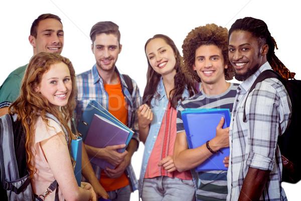 Imagem sorridente grupo estudantes Foto stock © wavebreak_media