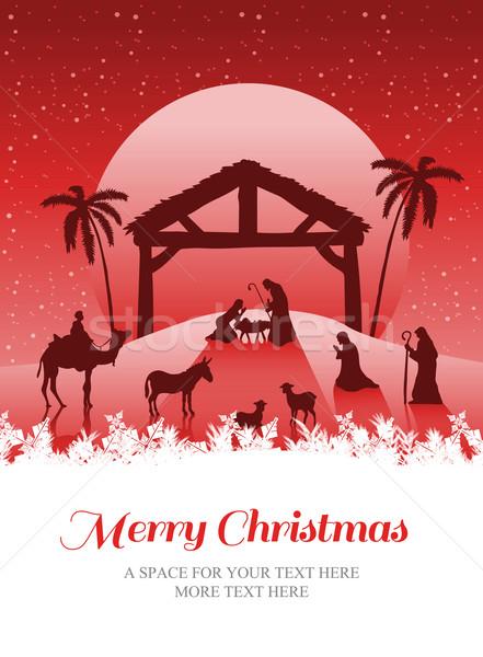 Immagine allegro Natale scena vettore Foto d'archivio © wavebreak_media