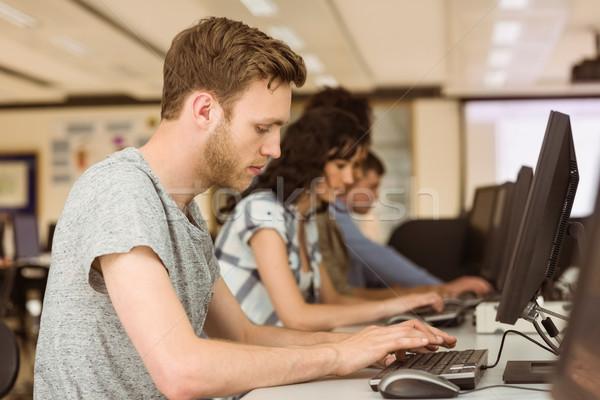 Travail salle informatique Université ordinateur école Photo stock © wavebreak_media