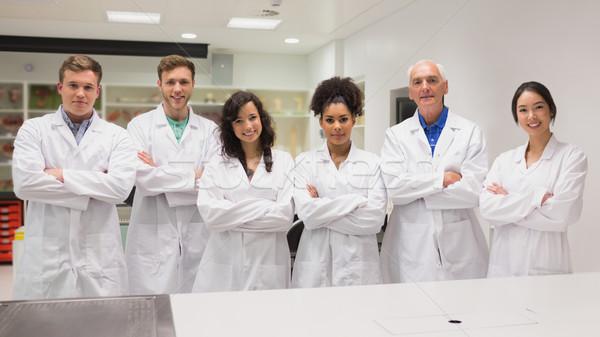 Сток-фото: медик · улыбаясь · камеры · университета · человека
