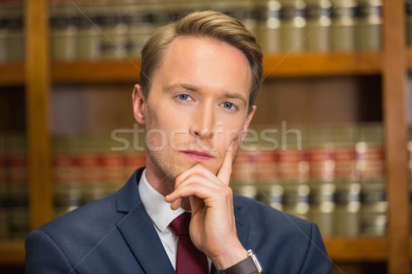 élégant avocat droit bibliothèque Université livre Photo stock © wavebreak_media