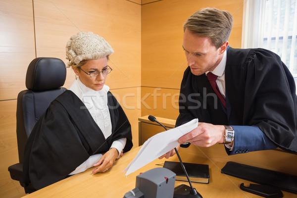 Advocaat rechter rechter kamer vrouw Stockfoto © wavebreak_media