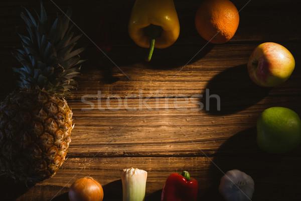 Vruchten uit tabel shot studio Stockfoto © wavebreak_media