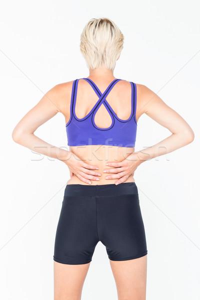 Atrakcyjna kobieta odzież sportowa biały ciało zdrowia siłowni Zdjęcia stock © wavebreak_media