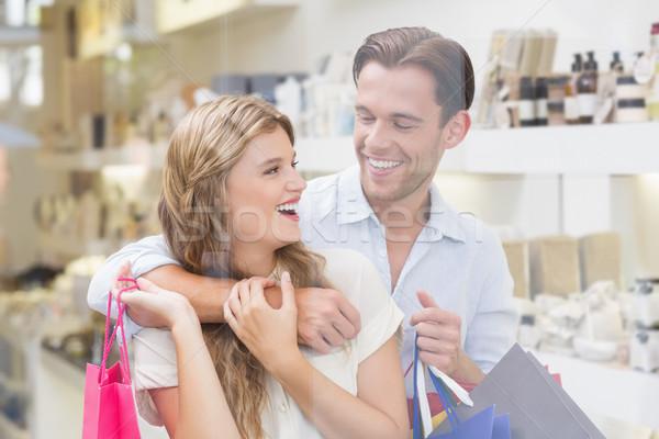 Szczęśliwy para centrum człowiek kobiet Zdjęcia stock © wavebreak_media