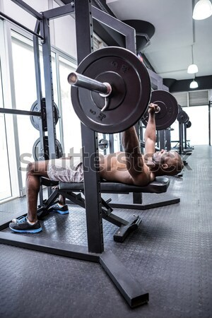 Young Bodybuilder doing weightlifting  Stock photo © wavebreak_media