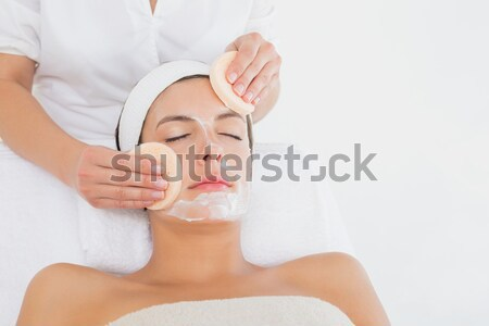 Attractive young woman on massage table  Stock photo © wavebreak_media