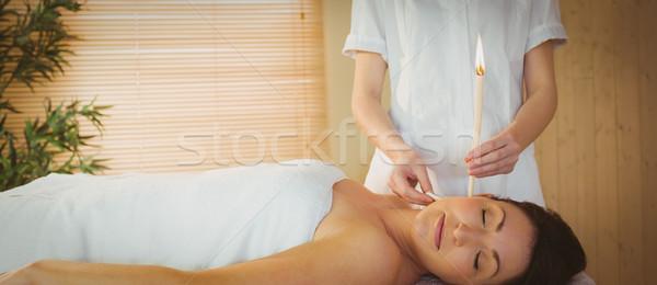 若い女性 耳 治療 療法 ルーム 女性 ストックフォト © wavebreak_media
