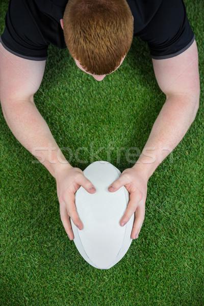 Rugby jugador vista deporte negro masculina Foto stock © wavebreak_media