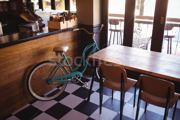 Bicycle at counter in restaurant Stock photo © wavebreak_media