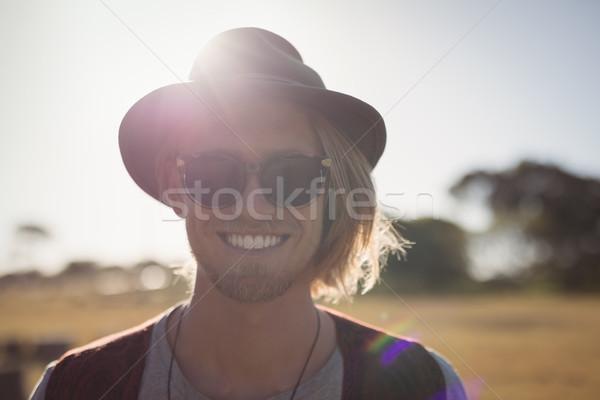 肖像 若い男 立って 晴天 空 ストックフォト © wavebreak_media