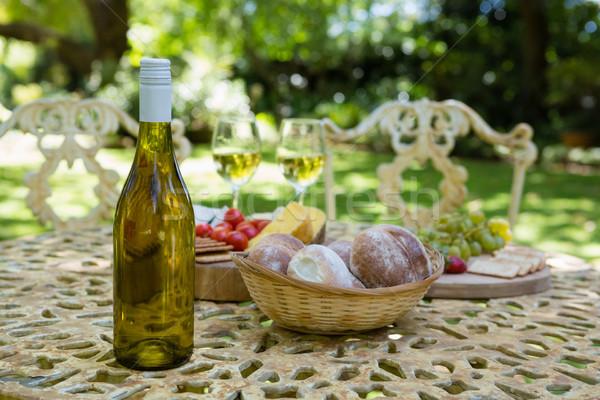 ワイングラス 食品 表 公園 コンピュータ ツリー ストックフォト © wavebreak_media
