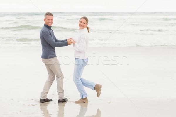 пару Nice день из пляж Сток-фото © wavebreak_media