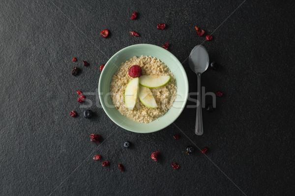 Fruto cereal tigela concreto fitness colher Foto stock © wavebreak_media