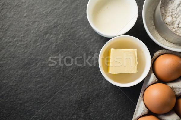 表示 バター ボウル 材料 表 紙 ストックフォト © wavebreak_media