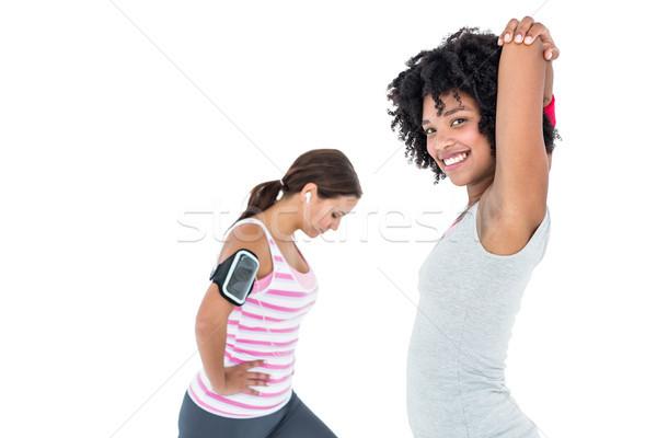 Vrouw vrouwelijke vriend gelukkig Stockfoto © wavebreak_media
