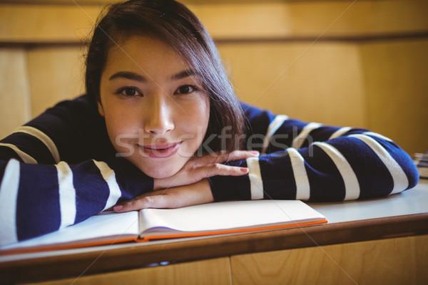 笑みを浮かべて 学生 講義 ホール 大学 幸せ ストックフォト © wavebreak_media