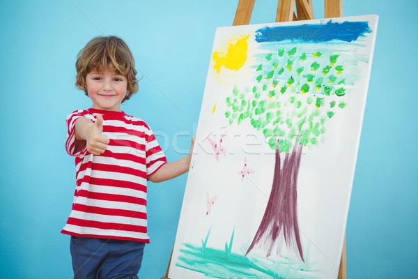 Happy boy with thumbs up Stock photo © wavebreak_media