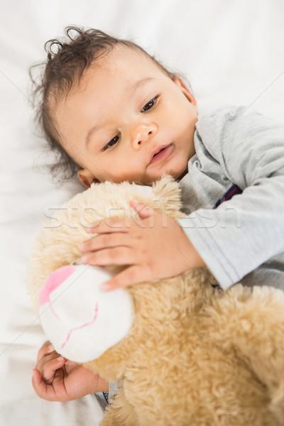 Bonitinho bebê pelúcia cama casa Foto stock © wavebreak_media