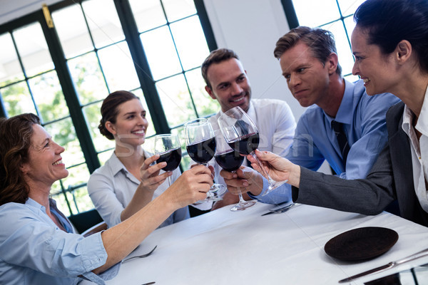 Gruppe Geschäftsleute Toasten Weinglas Business Mittagessen Stock foto © wavebreak_media