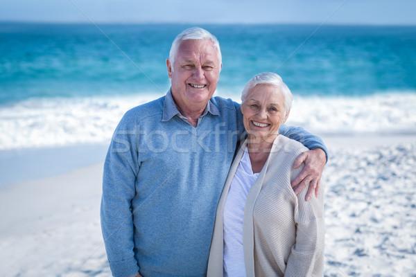 Permanente ion strand vrouw Stockfoto © wavebreak_media