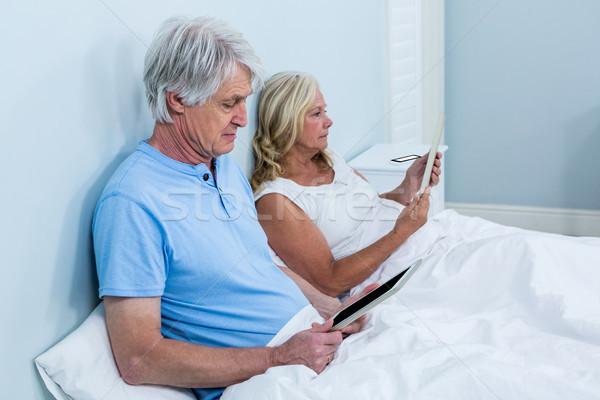 Retired couple with tablets Stock photo © wavebreak_media
