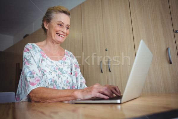 Portrait of smiling senior woman using a laptop Stock photo © wavebreak_media