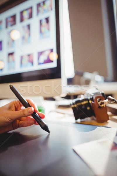 Graphic designer using graphic tablet Stock photo © wavebreak_media