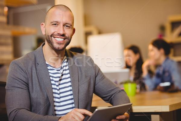 Portré férfi grafikus designer digitális tabletta Stock fotó © wavebreak_media