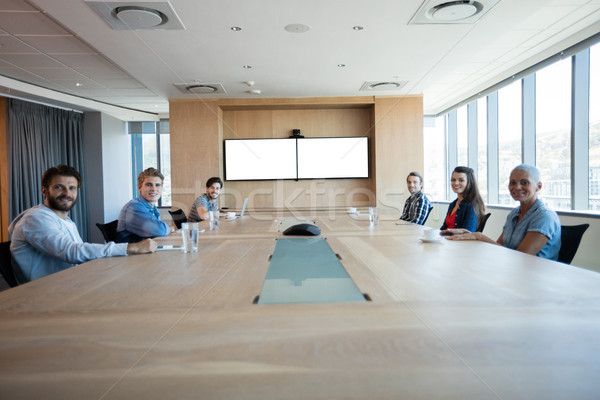 Creative business team having a meeting in conference room Stock photo © wavebreak_media