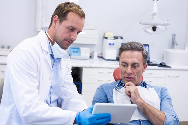 Dentista digitale tablet maschio paziente Foto d'archivio © wavebreak_media