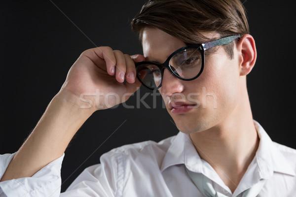 Adam poz gözlük moda gözlük eşcinsel Stok fotoğraf © wavebreak_media