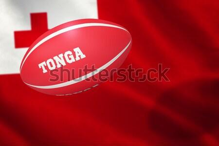 összetett kép Japán rögbilabda zászló csésze Stock fotó © wavebreak_media